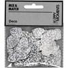 Paljetter hjärta stl. 15 mm 10 g silver