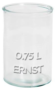 ERNST Rustika Glas Med Relieftext 0.75 L Transparent
