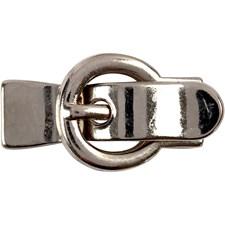 Magnetlås, str. 21x40 mm, hullstr. 10x2,5 mm, antikk sølv, 1stk.