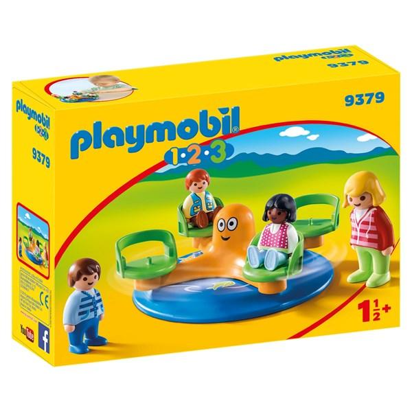 Barnkarusell  Playmobil 1.2.3 (9379) - playmobil