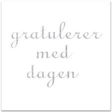 Bursdagskort med Konvolutt, gratulerer med dagen 12,5 x 12,5 cm