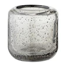 Bloomingville Lysholder Glass Diameter 7 cm, Høyde 7,5 cm Grå