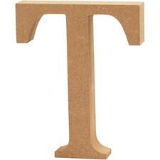 Träbokstäver T 13 cm MDF 1 st