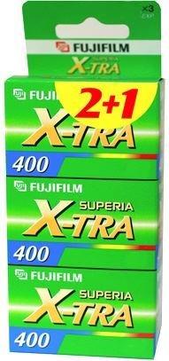 Värifilmi ISO 400 135/24 Fujifilm 3-pakkaus