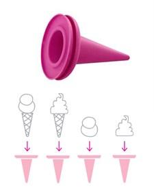 Glasstrut 2-p, Pink, Cillicone