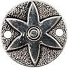 Korulinkit, halk. 25 mm, aukon koko 2,5 mm, 6 kpl, antiikkihopean väris