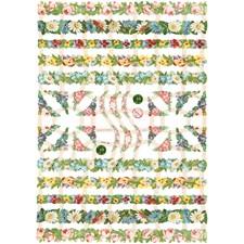 Glansbilder, ark 16,5x23,5 cm, blomsterranker, 3ark