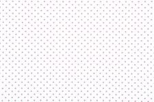 Stoff Hvit, Prikker Cerise 50/160 cm