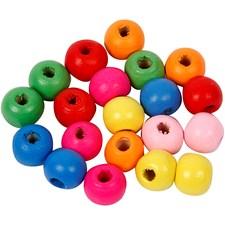 Träpärlor 10 mm Mix 500 g