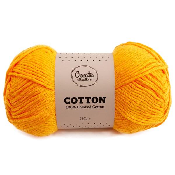 Adlibris Cotton 8/9 lanka 100g Yellow A076