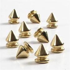 Nitter, dia. 8 mm, H: 10 mm, 40 stk., gull