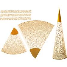 Strutar, H: 18+28 cm, 120 g, 3 st., guld