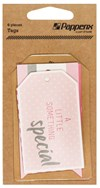 Stickers Etiketter - Tags Papperix Rosa