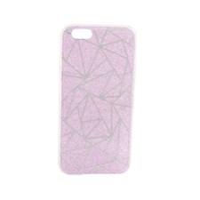 Mobilskal glittrigt rosa med grafiskt mönster till iPhone 6