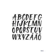 Alphabet poster by Ink & Lise 30x40 cm