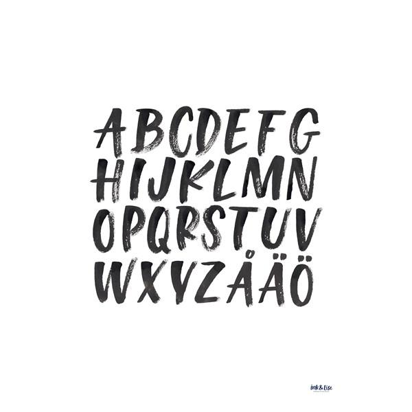 Alphabet poster by Ink & Lise 30x40 cm  Wonderwall - posters & väggdekoration