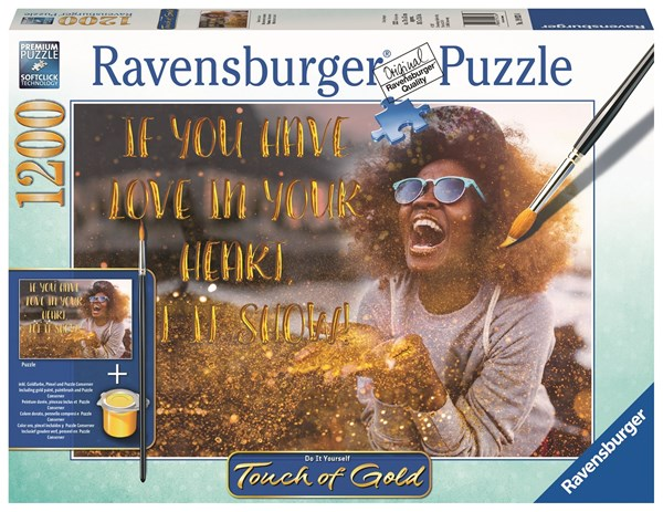 Touch of Gold Pussel 1200 bitar, Show me Love, Ravensburger