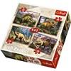 4-i-1 pussel, Dinosaurier, Trefl