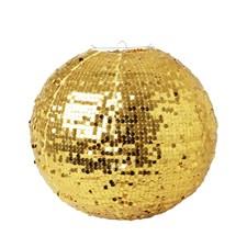 Lampskärm med paljetter, Guld,  Rice