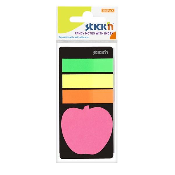 Indexfliker STICK´N 45x12, + eple 20b Neon