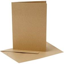 Perlemorskort, kort str. 10,5x15 cm, konvolutt str. 11,5x16,5 cm, gull, 10sett