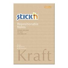 Kraftblock, linjerat STICK´N 150x101, 100blad