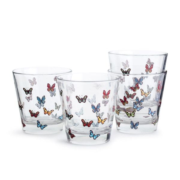 Sagaform Outdoor Eating Butterfly 4-pack Glas 20 cl - glas