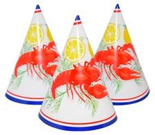 Partyhattar Kräftskiva 6-pack