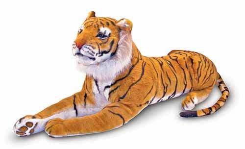 Tiger  Stort mjukisdjur  Melissa & Doug - gosedjur
