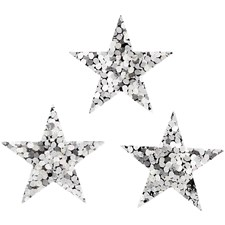 Paljetit, hopea, halk. 18 mm, tähti, 10g