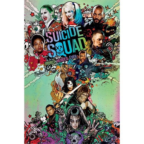 Suicide Squad Poster Nuke 60 x 80 cm  Pyramid International
