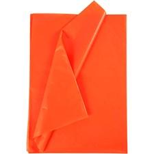 Silkkipaperi, arkki 50x70 cm, 19 g, 25 ark, oranssi