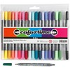 Colortime tussit, Lisävärit, paksuus 2,3+3,6 mm, 20 kpl/ 1 pkk