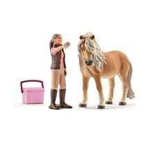 Hästskötare och islandshäst, Schleich