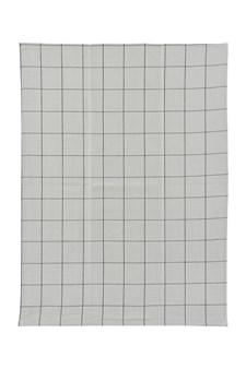 Kjøkkenhåndkle, 50 x 70 cm, Rutete, Grå/Svart, House Doctor