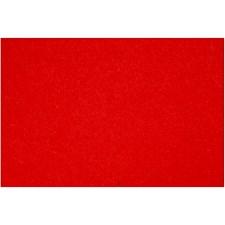 Hobbyfilt, ark 42x60 cm, tykkelse 3 mm, 1 ark, rød