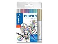 Pintor DIY-tusjer 6 stk. Ass Metal Mix - Medium