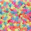 Rørperler, str. 5x5 mm, hullstr. 2,5 mm, 1100 ass., neonfarger
