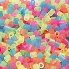 Rörpärlor 5x5 mm 1100 st Neonfärger