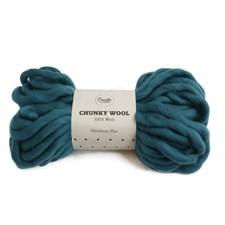 Adlibris Chunky Wool Garn Petroleum Blue 200g A134