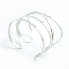 Katie Whide Armband, Steel