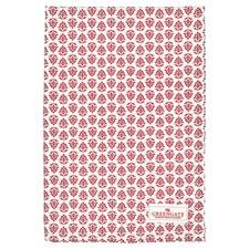 Greengate Ashley Kökshandduk 70x50 cm Röd