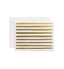 Tackkort med Kuvert Gold Stripes