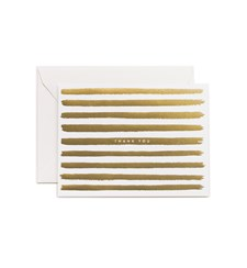 Gold Stripes Thankyou Card