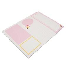 Desk Pad, notatblokker, 29 x 21 cm, Rosa