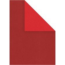Kartonki, A4 210x297 mm, 250 g, 10 ark, viininpunainen/punainen