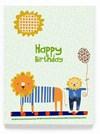 Gratulationskort Dubbelt med Kuvert 11,5x16 cm Happy Birthday Green