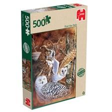 Find the owls, Pussel 500 bitar, Jumbo