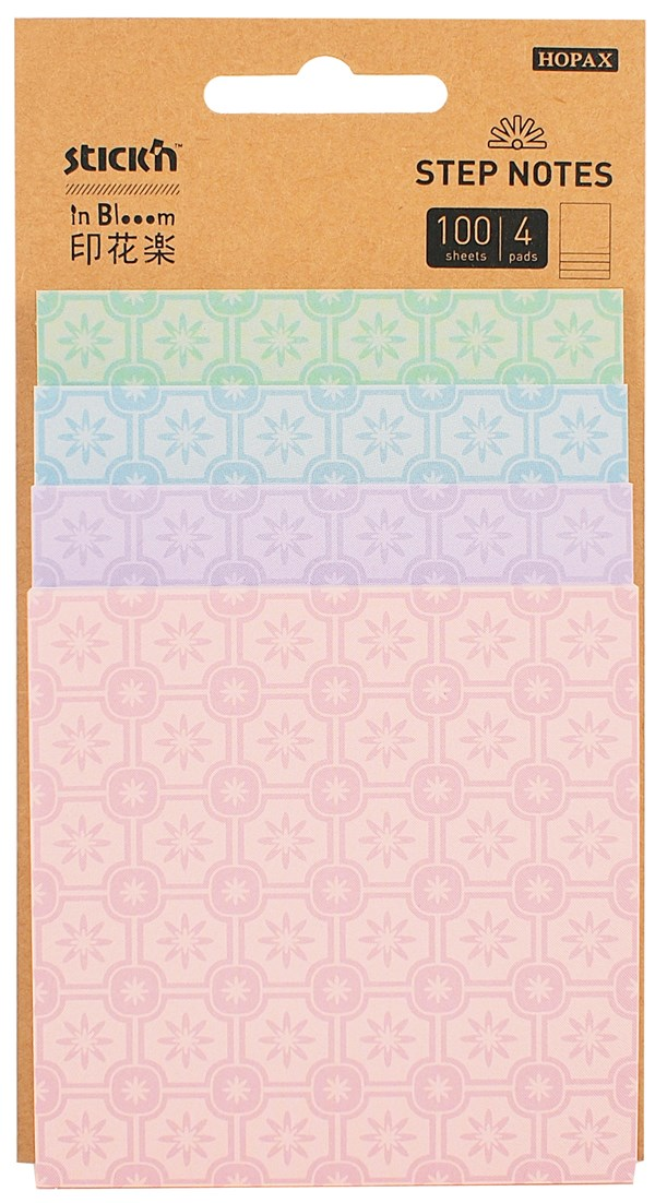 Step Notes Stick'n In Blooom Stars 4x25blad