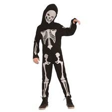 Barndräkt Skelett Vit Small